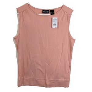 NWT New York & Company Light Pink Tank Top sz L